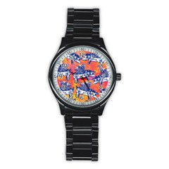 Little Flying Pigs Stainless Steel Round Watch by DanaeStudio