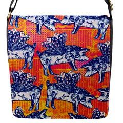 Little Flying Pigs Flap Messenger Bag (s) by DanaeStudio
