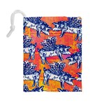 Little Flying Pigs Drawstring Pouches (Large)  Back