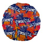 Little Flying Pigs Large 18  Premium Flano Round Cushions Back