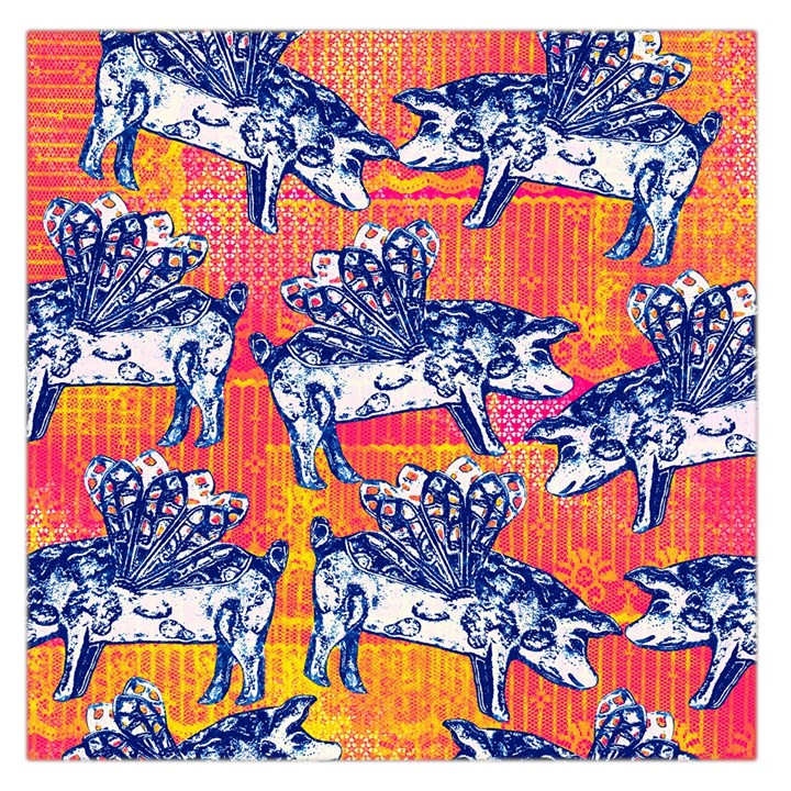 Little Flying Pigs Large Satin Scarf (Square)