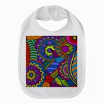 Pop Art Paisley Flowers Ornaments Multicolored Bib