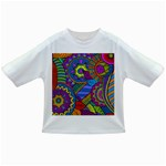 Pop Art Paisley Flowers Ornaments Multicolored Infant/Toddler T-Shirts Front
