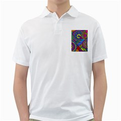Pop Art Paisley Flowers Ornaments Multicolored Golf Shirts