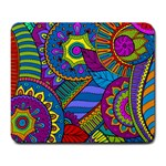 Pop Art Paisley Flowers Ornaments Multicolored Large Mousepads