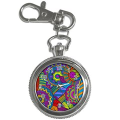 Pop Art Paisley Flowers Ornaments Multicolored Key Chain Watches