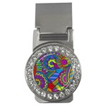 Pop Art Paisley Flowers Ornaments Multicolored Money Clips (CZ)