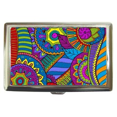 Pop Art Paisley Flowers Ornaments Multicolored Cigarette Money Cases