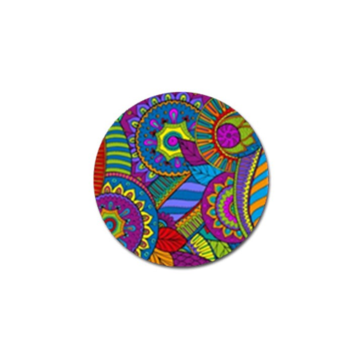 Pop Art Paisley Flowers Ornaments Multicolored Golf Ball Marker (10 pack)