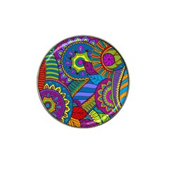 Pop Art Paisley Flowers Ornaments Multicolored Hat Clip Ball Marker