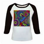 Pop Art Paisley Flowers Ornaments Multicolored Kids Baseball Jerseys