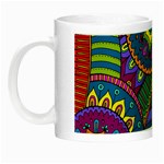 Pop Art Paisley Flowers Ornaments Multicolored Night Luminous Mugs Left