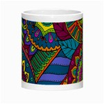 Pop Art Paisley Flowers Ornaments Multicolored Night Luminous Mugs Center