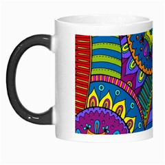 Pop Art Paisley Flowers Ornaments Multicolored Morph Mugs by EDDArt