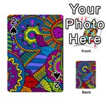 Pop Art Paisley Flowers Ornaments Multicolored Playing Cards 54 Designs  Front - Spade2