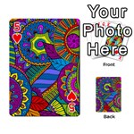 Pop Art Paisley Flowers Ornaments Multicolored Playing Cards 54 Designs  Front - Heart5