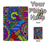 Pop Art Paisley Flowers Ornaments Multicolored Playing Cards 54 Designs  Front - ClubA