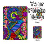 Pop Art Paisley Flowers Ornaments Multicolored Playing Cards 54 Designs  Front - Joker2