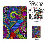 Pop Art Paisley Flowers Ornaments Multicolored Playing Cards 54 Designs  Front - Spade9