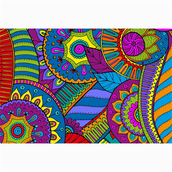 Pop Art Paisley Flowers Ornaments Multicolored Collage Prints