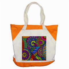 Pop Art Paisley Flowers Ornaments Multicolored Accent Tote Bag