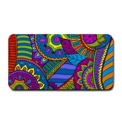 Pop Art Paisley Flowers Ornaments Multicolored Medium Bar Mats