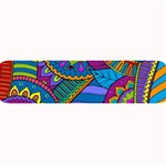 Pop Art Paisley Flowers Ornaments Multicolored Large Bar Mats