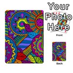 Pop Art Paisley Flowers Ornaments Multicolored Multi-purpose Cards (Rectangle)  Front 25