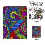 Pop Art Paisley Flowers Ornaments Multicolored Multi-purpose Cards (Rectangle)  Back 28