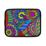 Pop Art Paisley Flowers Ornaments Multicolored Netbook Case (Small)