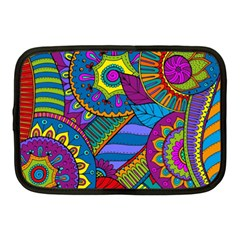 Pop Art Paisley Flowers Ornaments Multicolored Netbook Case (medium)  by EDDArt