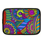 Pop Art Paisley Flowers Ornaments Multicolored Netbook Case (Medium)