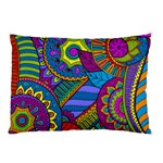 Pop Art Paisley Flowers Ornaments Multicolored Pillow Case