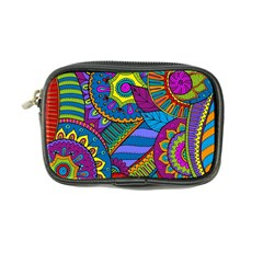 Pop Art Paisley Flowers Ornaments Multicolored Coin Purse by EDDArt