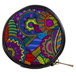 Pop Art Paisley Flowers Ornaments Multicolored Mini Makeup Bags