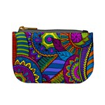 Pop Art Paisley Flowers Ornaments Multicolored Mini Coin Purses