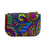 Pop Art Paisley Flowers Ornaments Multicolored Mini Coin Purses Back