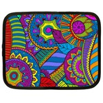 Pop Art Paisley Flowers Ornaments Multicolored Netbook Case (XXL)