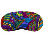Pop Art Paisley Flowers Ornaments Multicolored Sleeping Masks