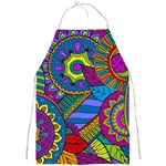 Pop Art Paisley Flowers Ornaments Multicolored Full Print Aprons Front