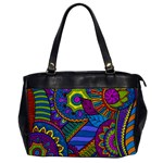 Pop Art Paisley Flowers Ornaments Multicolored Office Handbags