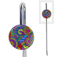 Pop Art Paisley Flowers Ornaments Multicolored Book Mark