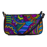 Pop Art Paisley Flowers Ornaments Multicolored Shoulder Clutch Bags