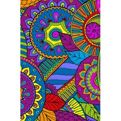 Pop Art Paisley Flowers Ornaments Multicolored 5.5  x 8.5  Notebooks