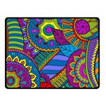 Pop Art Paisley Flowers Ornaments Multicolored Fleece Blanket (Small)