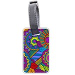 Pop Art Paisley Flowers Ornaments Multicolored Luggage Tags (Two Sides)
