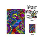 Pop Art Paisley Flowers Ornaments Multicolored Playing Cards 54 (Mini)  Front - SpadeK