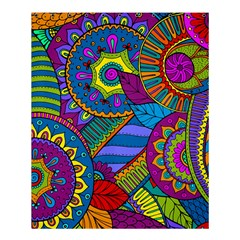 Pop Art Paisley Flowers Ornaments Multicolored Shower Curtain 60  X 72  (medium)  by EDDArt