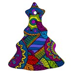 Pop Art Paisley Flowers Ornaments Multicolored Christmas Tree Ornament (2 Sides)