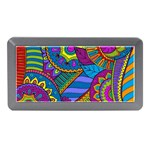 Pop Art Paisley Flowers Ornaments Multicolored Memory Card Reader (Mini)